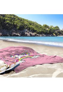 Toalha De Praia / Banho Unicornio