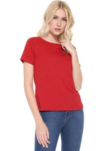 Camiseta Lunender Lisa Vermelha