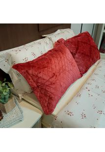 Porta Travesseiro Plush Glamour - Bene Casa
