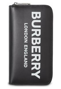 Burberry Carteira De Couro Com Logo - Preto