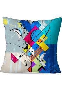Capa De Almofada Avulsa Decorativa Abstrato Blue 45X45Cm