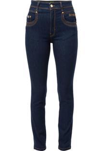 Versace Jeans Couture Calça Jeans Skinny Com Stretch - Azul