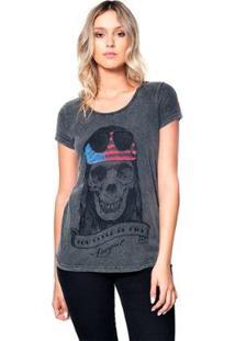 Camiseta Estonada Skull Axl Useliverpool Feminina - Feminino-Preto
