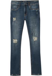 Calça John John Skinny Grevy Jeans Azul Masculina (Jeans Medio, 42)