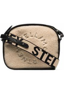 Stella Mccartney Bolsa Transversal Mini Com Pelos - Neutro