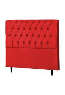 Cabeceira Casal Queen Veneza 160Cm Para Cama Box Suede Vermelho - Ds Móveis