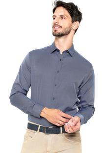 Camisa Vivacci Textura Azul-Marinho