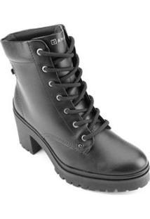 Bota Coturno Ramarim Ankle Boot 2050103 Feminina - Feminino-Preto