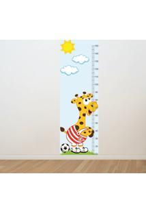 Adesivo Régua De Crescimento Girafa Internacional Futebol (0,50M X 1,50M)