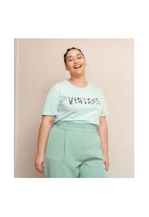 Blusa Em Algodão Estampa Vintage Curve & Plus Size | Ashua Curve E Plus Size | Verde | Gg