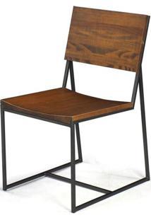 Cadeira York Metal Grafite Rustic Brown 83 Cm (Alt) - 38542 Sun House