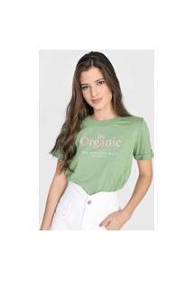 Camiseta Colcci Be Organic Verde