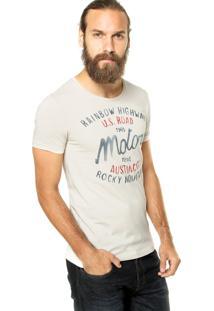 Camiseta Benetton Frases Bege