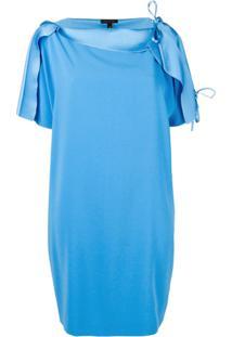 Escada Vestido Com Detalhe De Amarração - Azul
