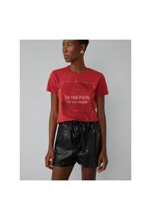 Amaro Feminino T-Shirt Diamond, Vermelho
