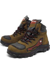 Bota Bell-Boots Adventure/Motociclista 2050 - Osso/Vermelho