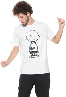 Camiseta Snoopy Charlie Brown Branca