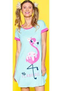 Camisola Manga Curta Visco Flamingo Adulto