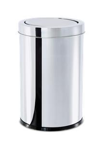 Lixeira Inox Com Tampa Basculante 21,2 Litros - Decorline Lixeiras Ø 25 X 46 Cm - Brinox