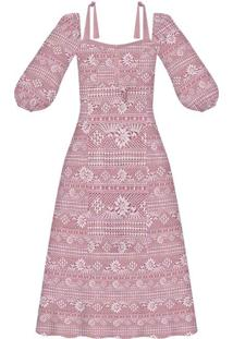 Vestido Tecido Rayon Stars Cha Rendas - Lez A Lez