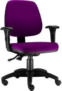 Cadeira Giratã³Ria Lyam Decor Job Roxo - Roxo - Dafiti