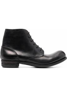 A Diciannoveventitre Ankle Boot Com Cadarço - Preto