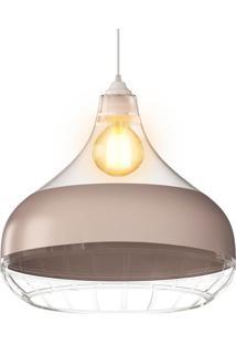 Luminária Champanhe Transparente Pendente Combine Spirit 1340