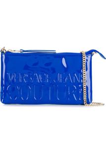 Versace Jeans Couture Embossed Logo Cross Body Bag - Azul