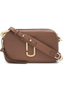 Marc Jacobs Bolsa Transversal The Softshot 21 - Marrom