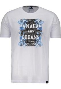 Camiseta Hd Night Aloha - Masculino-Branco