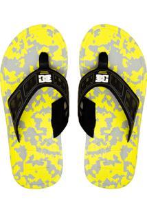 Chinelo Dc Shoes Indo Amarela