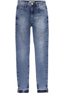 6f7a1f1a1 ... Calça Jeans Skinny Em Algodão Com Cintura Média Alta