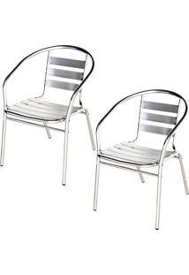 Cadeiras Poltrona Em Alumínio Para Jardim/Áreas Externas - Mor