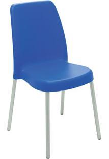 Cadeira Vanda- Azul Escuro & Cinza Claro- 86X53,7X48Tramontina