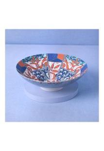 Vaso Em Cerâmica Estampada Cor: Colorido - Tamanho: Único