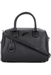 Bolsa Shopper Ellus Bowling Bag Feminina - Feminino-Preto