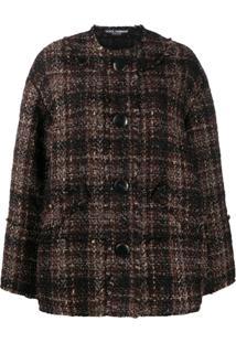 Dolce & Gabbana Boucle Tweed Jacket - Marrom