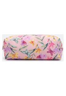 Nécessaire Modelo Tijolinho Com Estampa De Florzinhas | Accessories | Rosa | U
