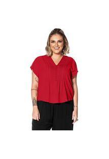 Blusa Crepe Feminina Secret Glam Vermelho