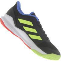 7df65b46a3 Tênis Adidas Stabil Bounce - Masculino - Preto Amarelo Fluor