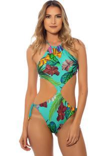 Body Kalini Beachwear Engana Mamãe Lazuli Verde