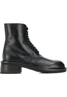 Ann Demeulemeester Lace Up Ankle Boots - Preto