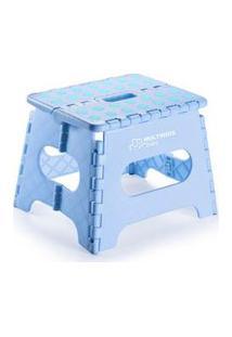 Banquinho Multiuso Dobrável Azul Multikids Baby - Bb1009 Bb1009