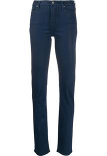 Karl Lagerfeld Denim Calça Jeans Slim Cintura Média - Azul