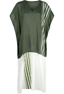 Lemlem Vestido Kaftan Eshe Com Listras - Verde