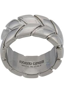 Roberto Cavalli Anel Arrows - Prateado