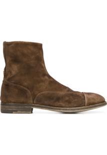 Premiata Ankle Boot 'Sonia' De Couro - Marrom
