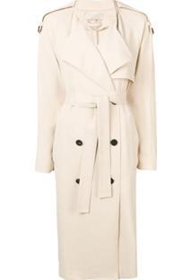 Vanessa Bruno Trench Coat Com Abotoamento Duplo - Neutro