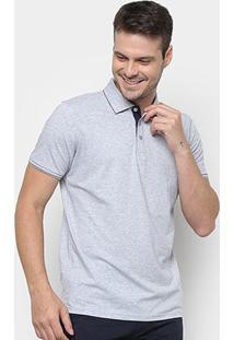 Camisa Polo Watkins&Krown Elastano Masculina - Masculino-Cinza
