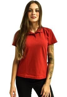 Camiseta Rich Young Pólo Básica Lisa Manga Curta Vermelha - Kanui